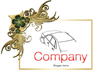 تحميل لوجو معرض سيارات مفتوح المصدر للفوتوشوب, Car PSD Logo Design free Download