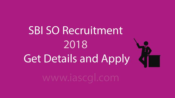 SBI SCO Recruitment 2018