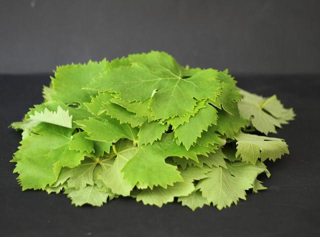 conservare le foglie di vite