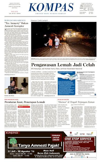Kompas Edisi Selasa 26 Juli 2016