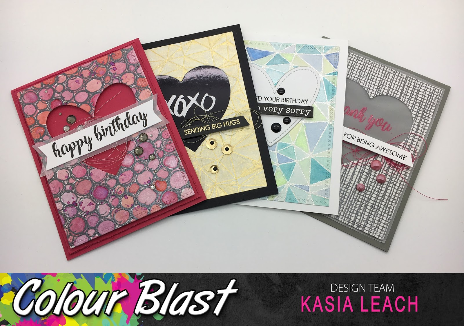 Birthday Cards Melbourne ~ Colour blast: clean & simple cards by kasia leach