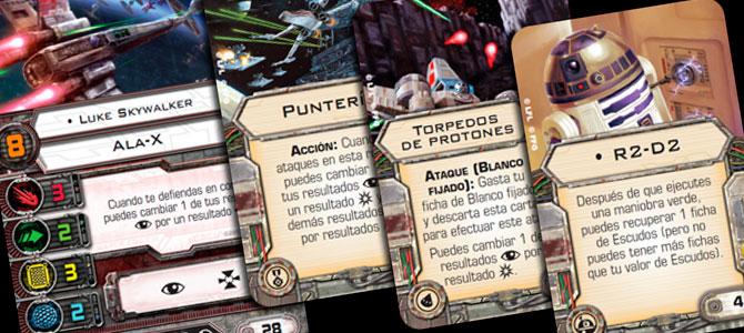 X-Wing cartas
