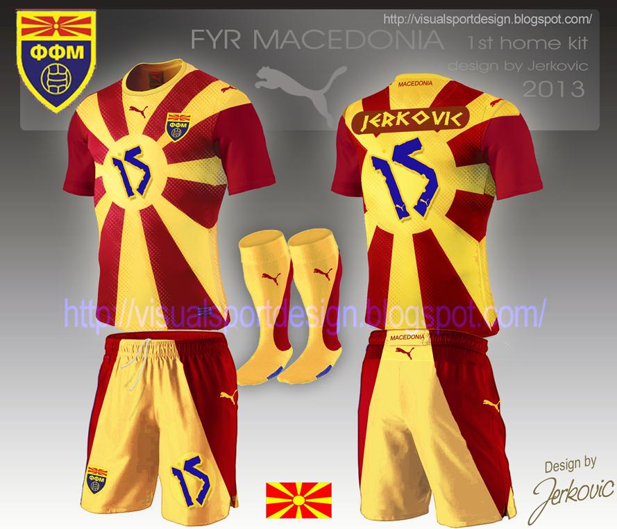 e6f16ab420c9 Visual Football Fantasy Kit Design  MACEDONIA Puma Home