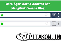 Easy Way to Change the Color of the Address Bar Following the Blog Color