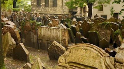 Antigo cemitério judeu de Praga