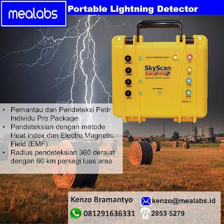 Detektor Pendeteksi Petir portable
