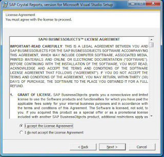 cara instal crystal report, vb 2010, menampilkan crystal report
