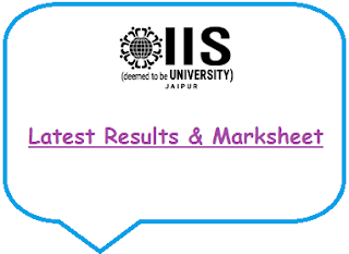 IIS University Results May June 2020