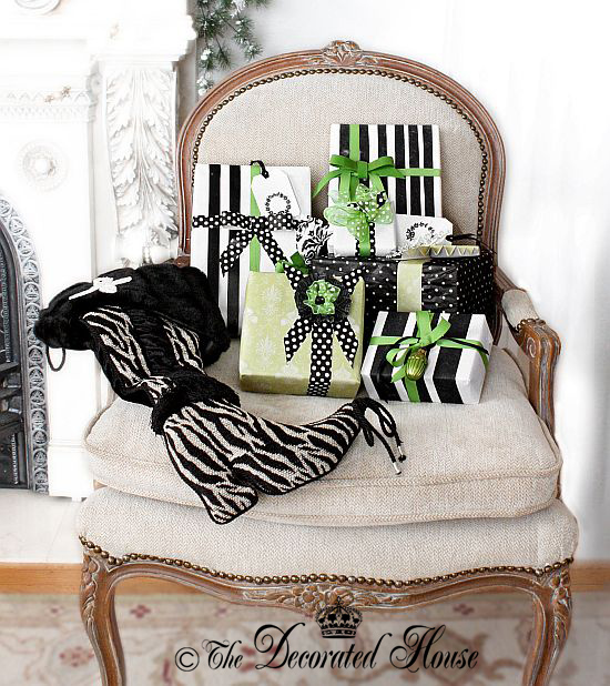 The Decorated House : Christmas White with Black and Lime Green Accents