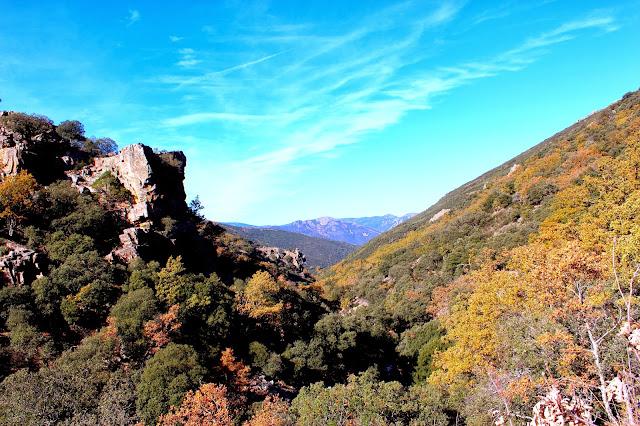 Paisaje de sierra  en el Parque Nacional de Cabañeros