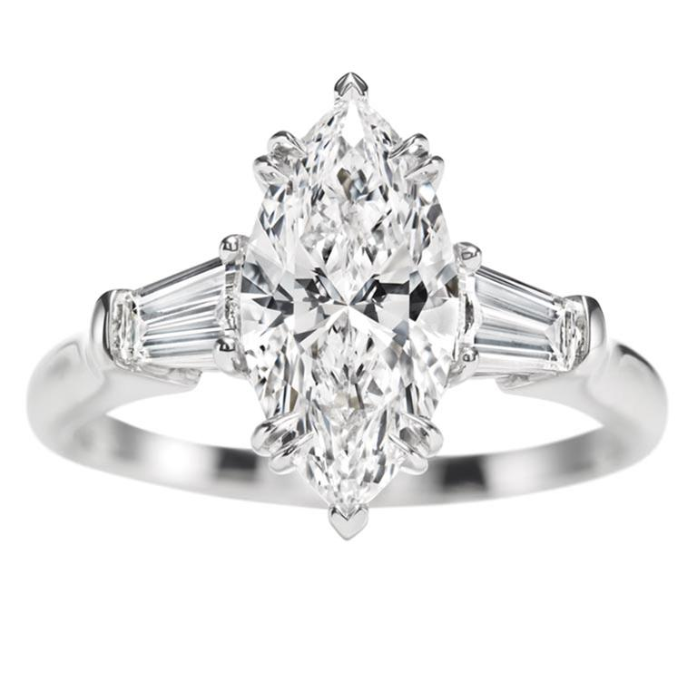 Harry Winston Engagement Ring Collection – Champagne Gem