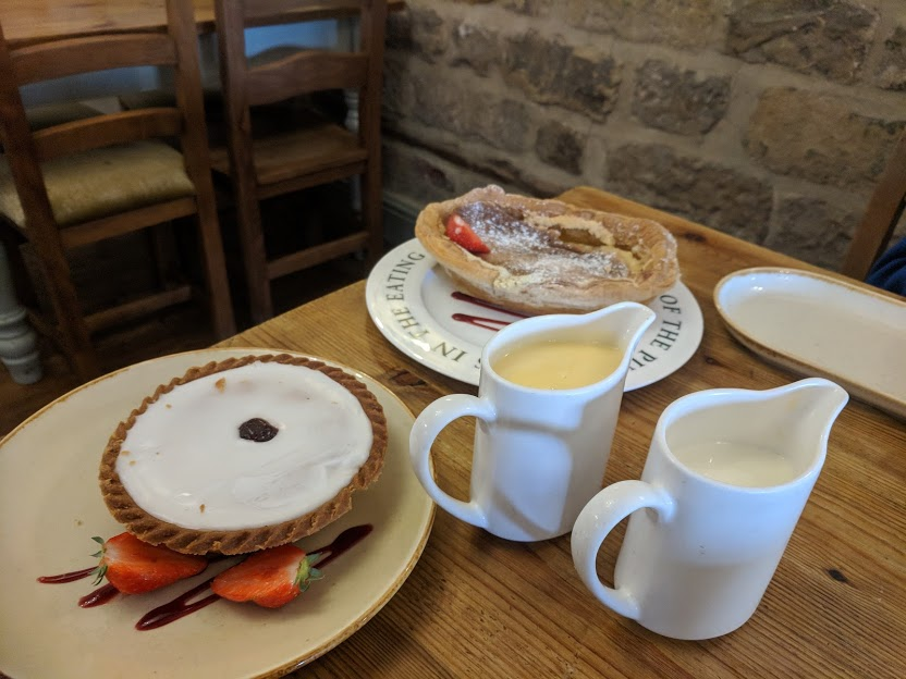 A Review of Darwin Forest & The Peak District with Tweens - large bakewell tart and bakewell pudding