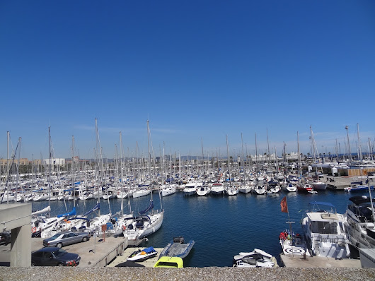 Barcelona harbour - Skywatch Friday
