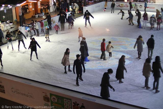 Skating Rink in Tokyo Solamachi