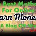 10 Best Method For Online Make Money With A Blog OR Website