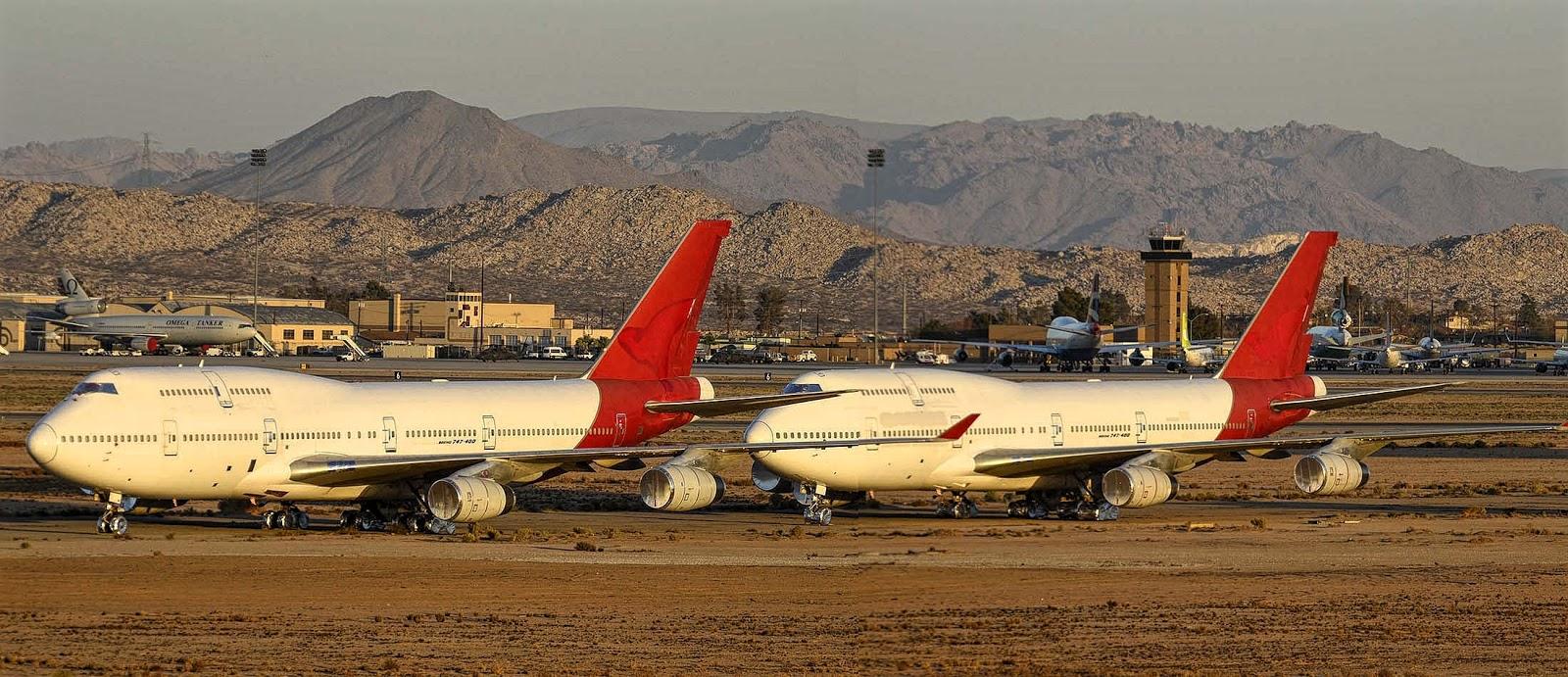 b747-400 qantas mojave desert aircraft graveyard