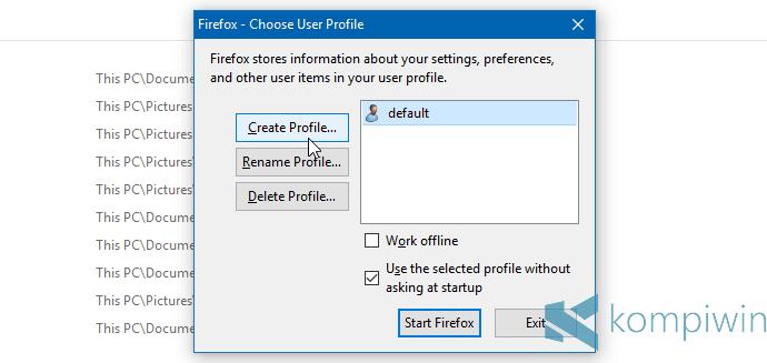 Cara Login Lebih Dari Satu Akun yang Berbeda ke Satu Website yang Sama secara Bersamaan di Firefox 19