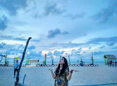potret keindahan pantai panggung jepara