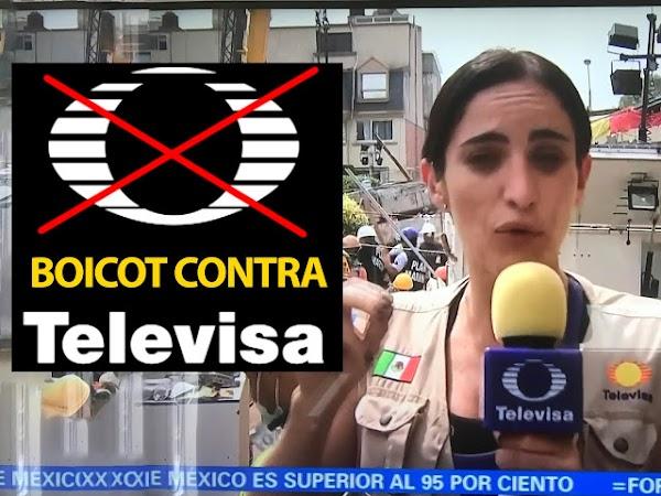 Mexicanos llaman a boicotear a Televisa por lucrar con la tragedia y manipular la información. ¿TE UNES?