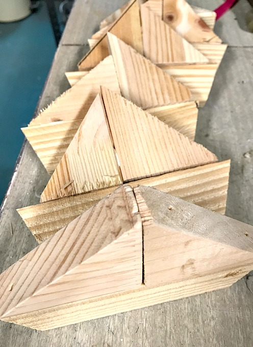 wooden scrap sailboats