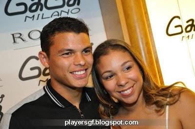 Thiago Silva and his girlfriend