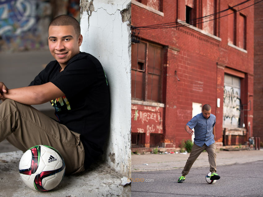 Detroit high school Senior Pictures - soccer  style - Sudeep Studio.com