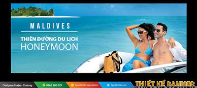 Thiết kế banner du lịch đẹp, chuyên nghiệp, giá rẻ