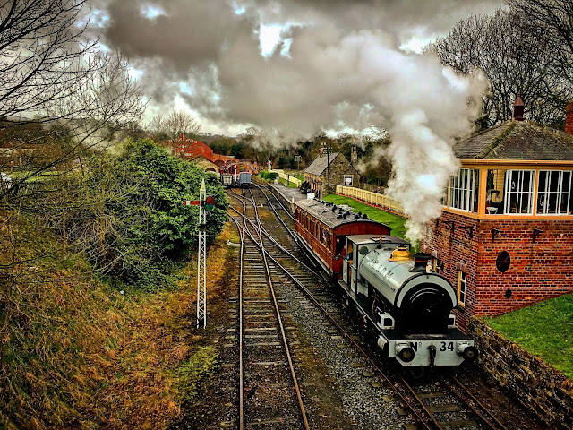 Steam Train at Beamish Museum, Mandy Charlton