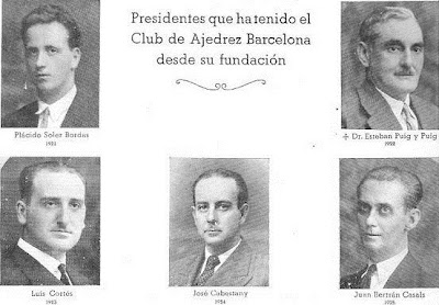 Presidentes del Club Ajedrez Barcelona de 1921 a 1925