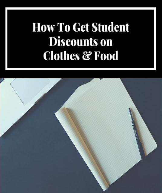 Get student discounts on food and clothes