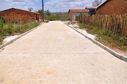 Proinveste: Governo executa pavimentação granítica no povoado Bonfim, em Divina Pastora