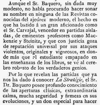 Recorte de El Pablo Morphy sobre el match de ajedrez Baquero - Martínez de Carvajal (2)