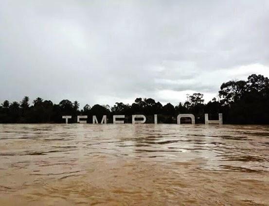 Banjir 2014 : Temerloh Pahang Kini Tenggelam