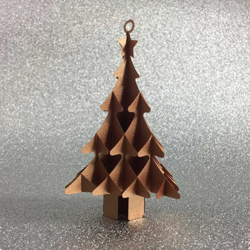 Sliceform Christmas tree - Free cut file and tutorial by Nadine Muir for Silhouette UK