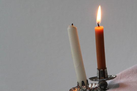 Vintage Kerzenklemmen zierratundgold