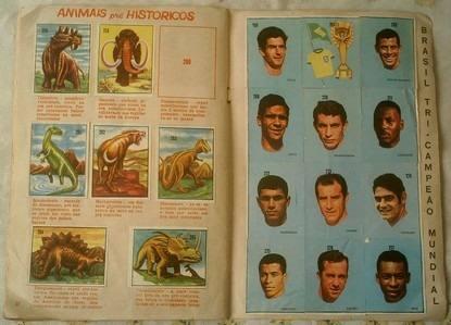 Album de Figurinhas Antigos