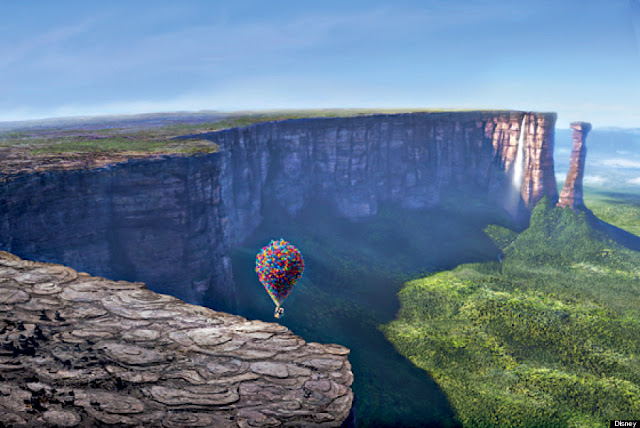 The Paradise Falls in 'Up' was hugely inspired by the Angel Falls in Venezuela
