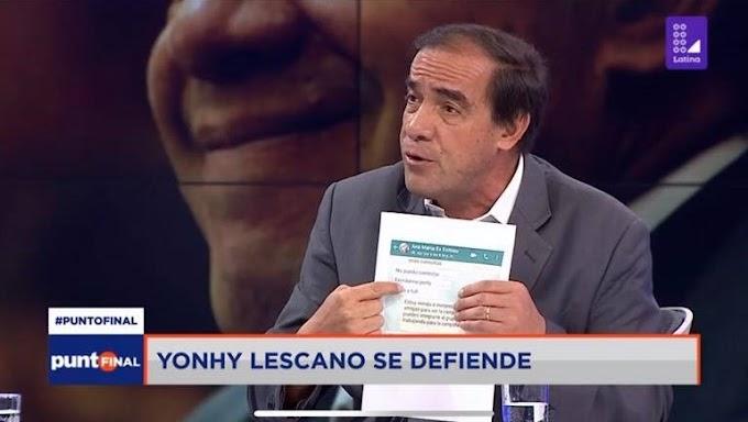 Yonhy Lescano muestra por accidente el supuesto nombre de la periodista acosada| FOTO
