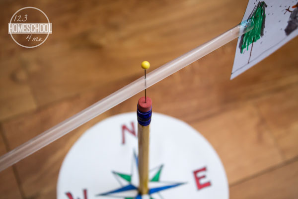 Push-Pin-through-the-Eraser-of-Pencil-to-Make-Weather-Vane