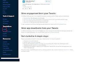 Twitterデペロップのスクリーンショット2
