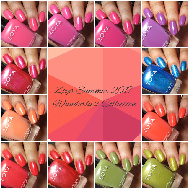 nail polish swatch and review of the Zoya summer 2017 Wanderlust collection