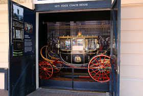 Scottish State Coach at the Royal Mews, Buckingham Palace