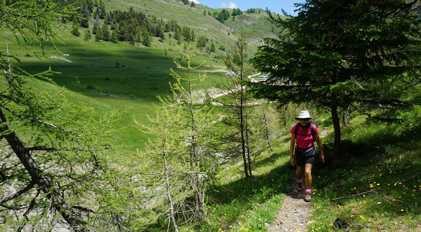 Ascending to Col de l'Espaul near Valberg