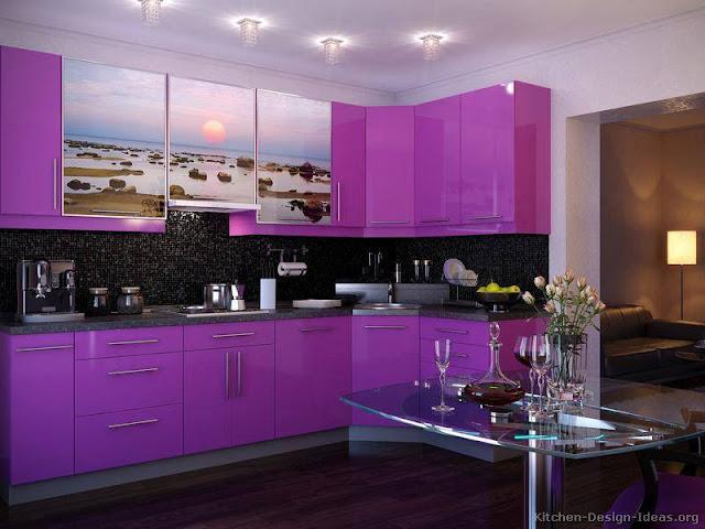 Construindo minha casa clean 13 cozinhas roxas decoradas for Cocinas color berenjena