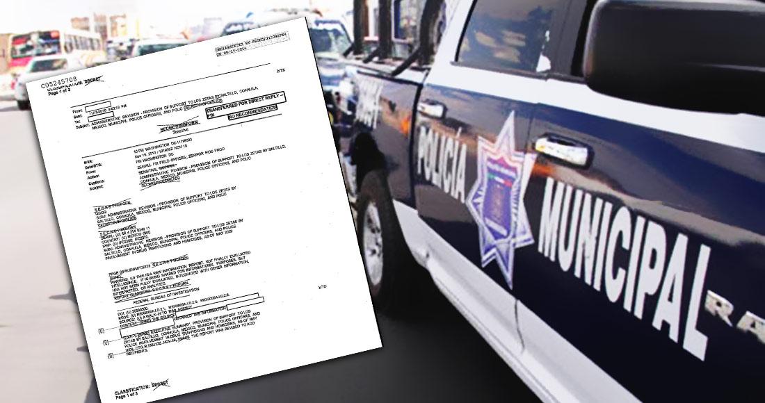 """El FBI alertó en 2009 que policías de Saltillo eran zetas; el Alcalde era Torres, del """"clan Moreira"""""""