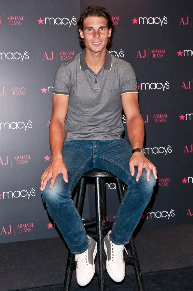 Rafael Nadal Unveils His New Armani Jeans and Underwear ...