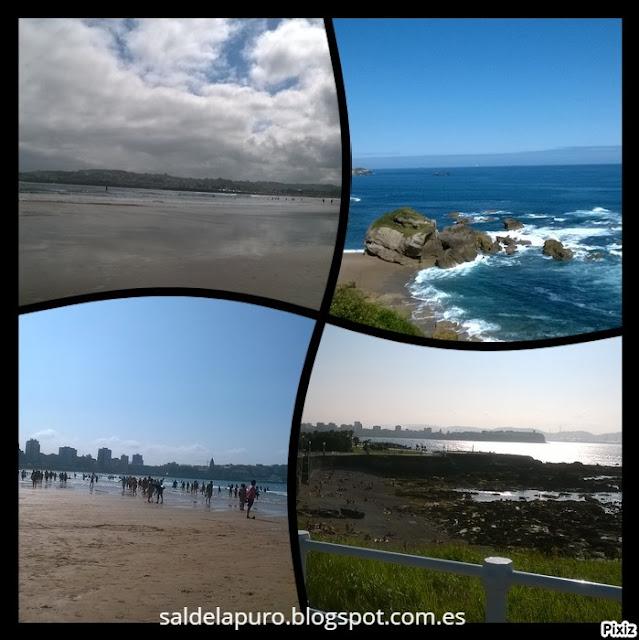 Playas-serín-estaño-san lorenzo- Gijón