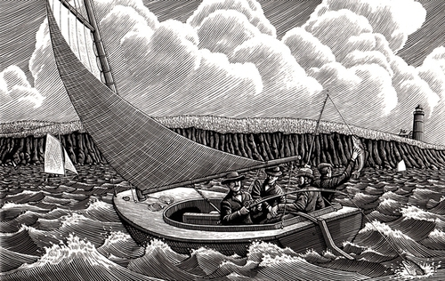 17-Choppy-Waters-Douglas-Smith-Scratchboard-Drawings-Through-Time-and-Lives-www-designstack-co
