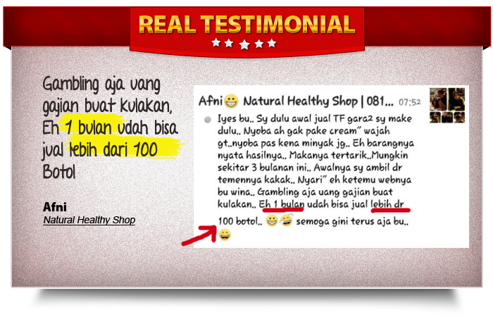 Testimoni Usaha Agen Herbal TF Organik
