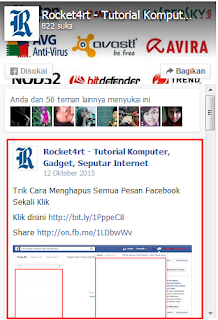 Cara memasang find us facebook di blog